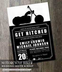 biker motorcycle wedding invitation diy printable digital