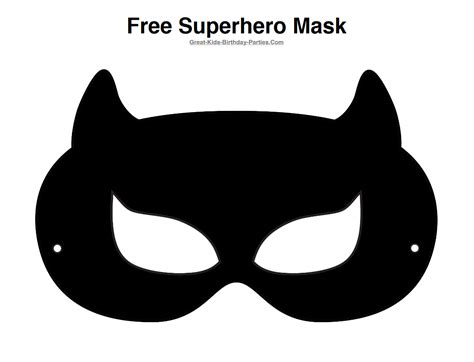 printable catwoman mask free catwoman half mask printable black printable masks