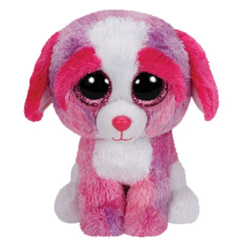ty beanie boos dogs sherbet the ty beanie boo 039 s plush 6 034 stuffed animal pink glitter ebay
