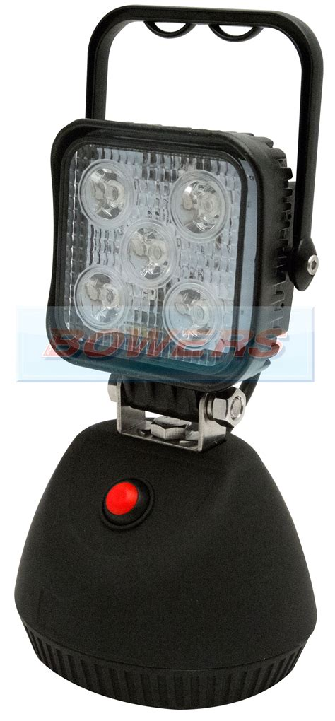 rechargeable magnetic work light 12v 24v ecco ew2461 5 led portable rechargeable square