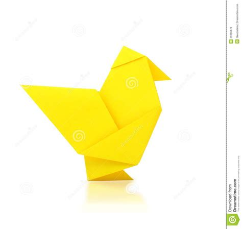 Origami Chicken - origami chicken royalty free stock images image 29166179