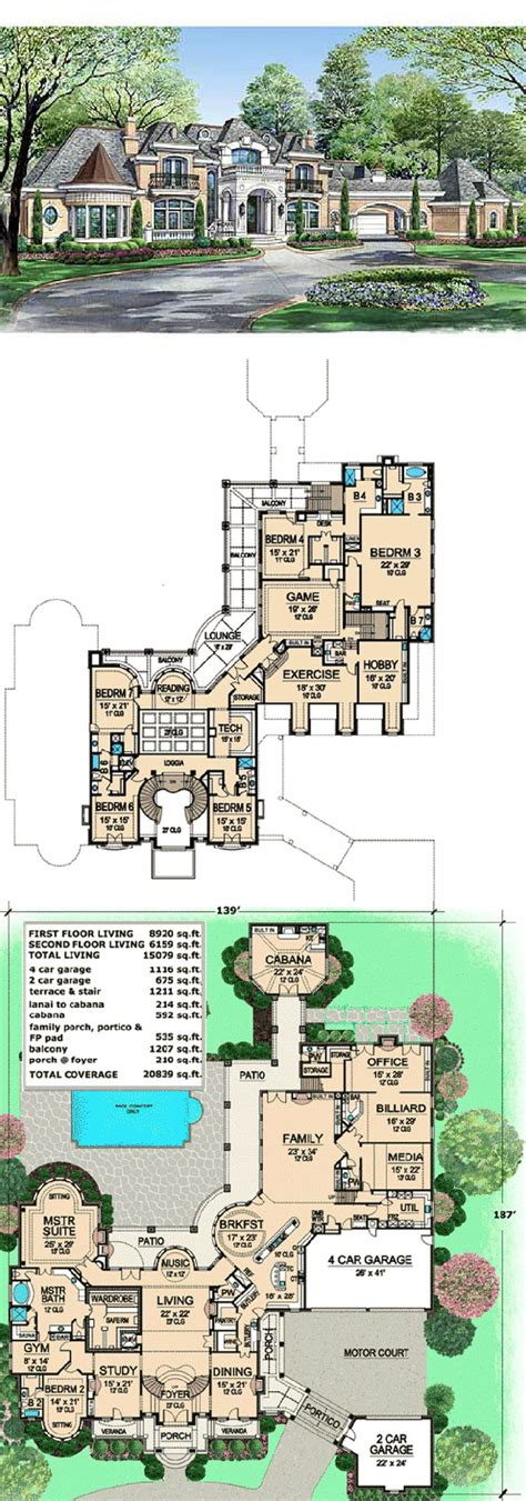 house plans with swimming pools 25 best ideas about large house plans on pinterest