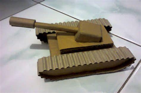 cara membuat mobil dari kardus dan gambar cara membuat mobil tank dari kardus homemade hemat