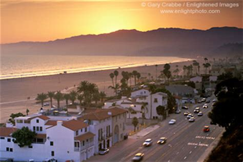 Current Traffic On Pch - picture golden sunset over the coastal mountains and sandy beaches along the pacific