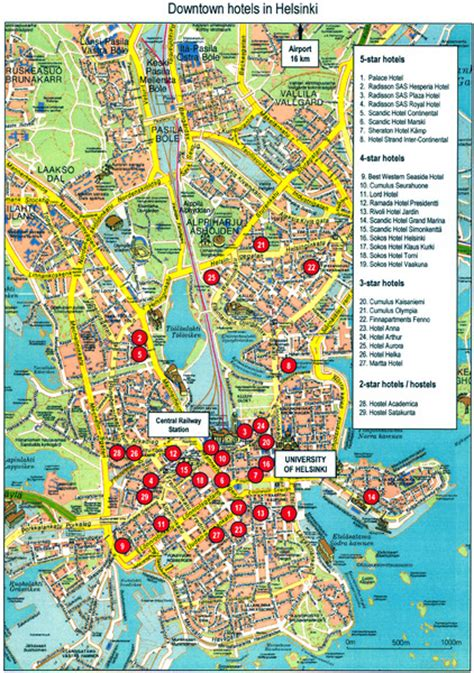 seattle map with landmarks finland travel maps map