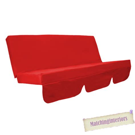 red bench cushion red water resistant bench cushion for outdoor swing seat