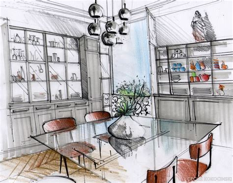 dessiner une cuisine en perspective dessiner en perspective une cuisine photos de conception