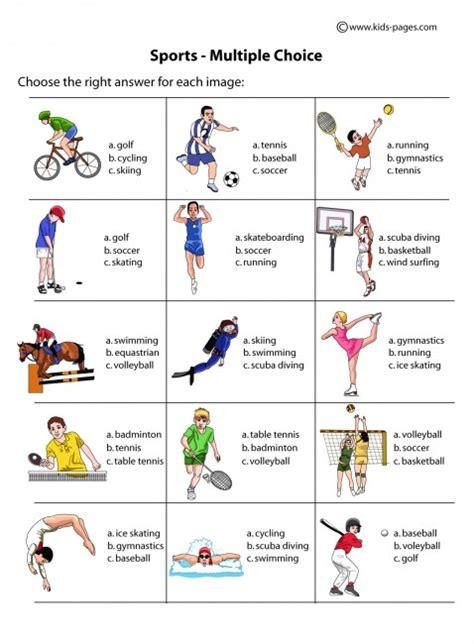 printable tennis quiz sports multiple choice worksheets šport pinterest