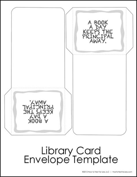 Library Cards Track Your Kid S Reading Progress Free Printable How To Nest For Less Library Card Template
