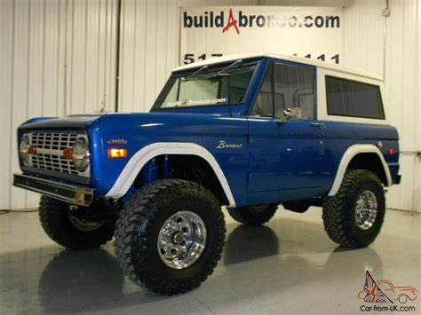 blue bronco freshly rebuilt classic 1974 ford bronco 4x4 blue with