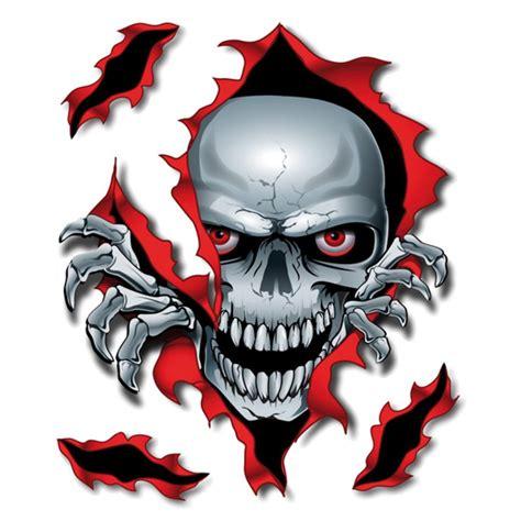 Sticker Totenkopf by Adesivi Lethal Threat Peek A Boo Skull Adesivi E
