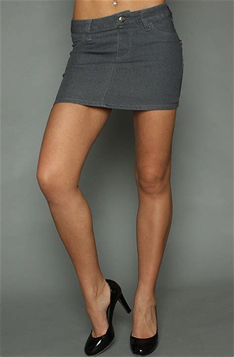 tripp nyc the denim mini skirt in gray karmaloop