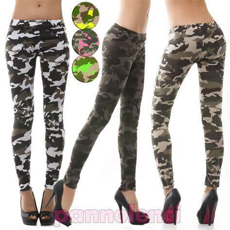 army pattern leggings leggings fuseaux spotted military camouflage woman mimetic