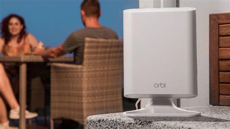 orbi outdoor satellite not syncing netgear takes orbi mesh networks outside for backyard wifi