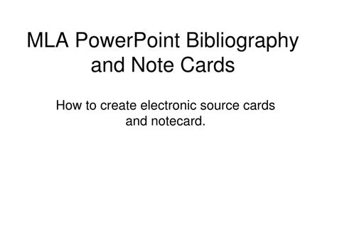 note card powerpoint template ppt mla powerpoint bibliography and note cards