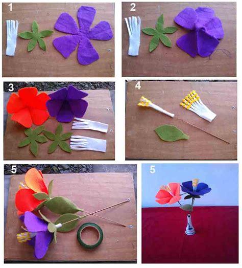 gambar cara membuat bunga tulip dari kertas origami tutorial membuat bunga sepatu dari kain flanel kreasi ceria