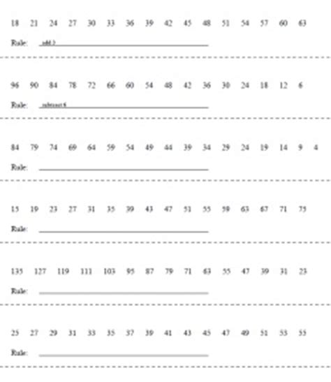 number pattern and rule worksheet 14 best images about math on pinterest maze student and