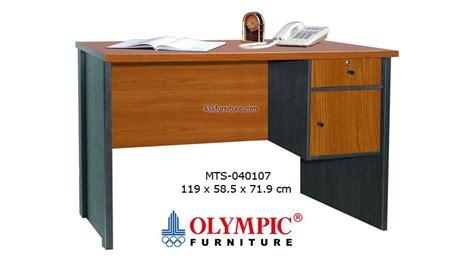 Meja Setengah Biro Bahan Kayu meja tulis olympic 1 2 biro 040107 harga termurah promo