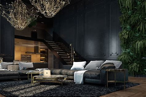 dark living rooms large dark sofa dark living room