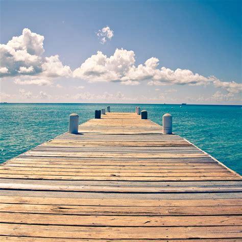sunny endless ocean dock view ipad air wallpaper ipad