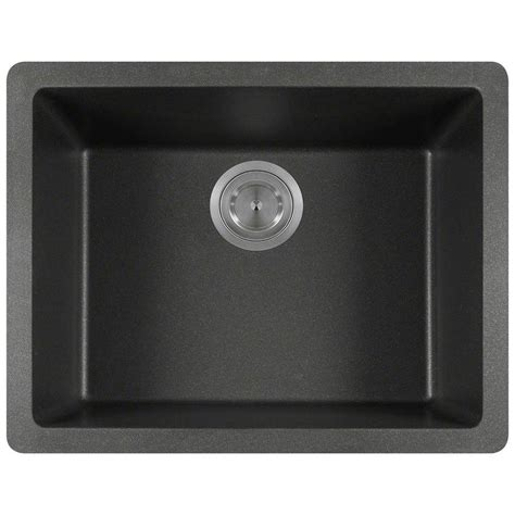 polaris sinks undermount granite 22 in single basin
