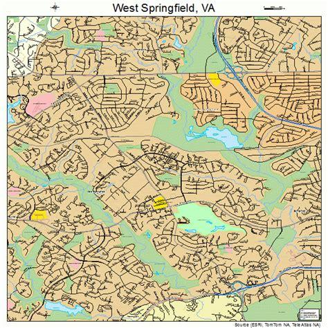 west springfield west springfield virginia map 5184976