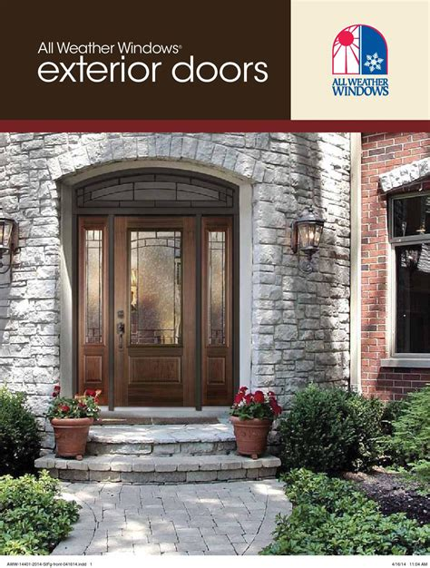 Entry Door Catalogue By All Weather Windows Issuu Weather Front Door