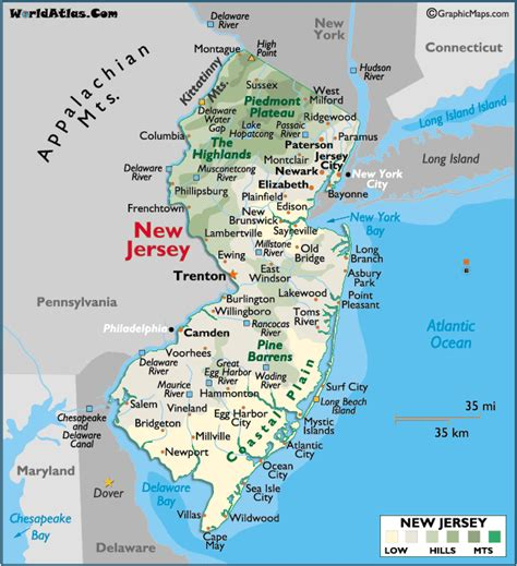 new jersey state map image gallery new jersey state map