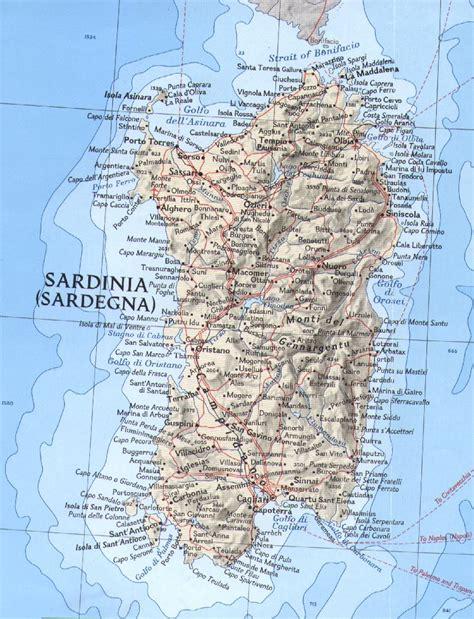 sardinia map sardinia relief map sardinia mappery