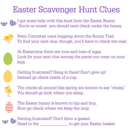 easter scavenger hunt printable easter scavenger hunt clues between us parents