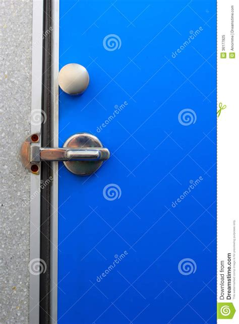 bathroom door locked bathroom door blue royalty free stock photo image 36177925