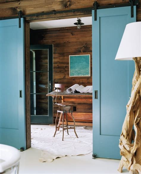 barn door rustic interior room divider