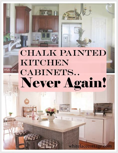 Chalk Painted Kitchen Cabinets by Chalk Painted Kitchen Cabinets Never Again White Lace