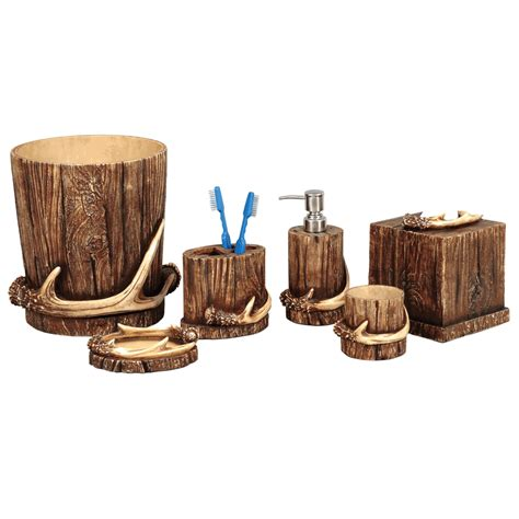 buck mountain antler bath accessories