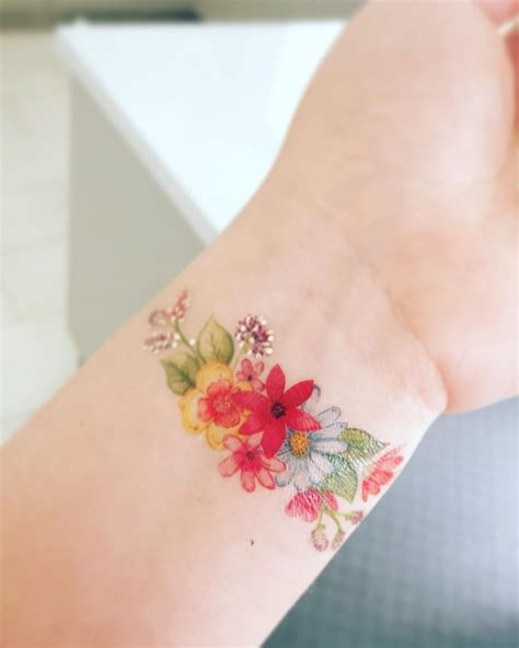 flower wrist bracelet tattoos flower bracelet flower inspiration