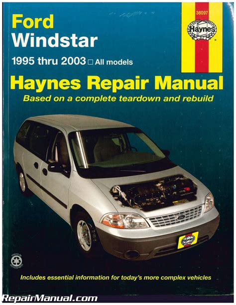 car repair manuals online pdf 1995 ford econoline e350 electronic toll collection haynes 1995 2003 ford windstar mini van repair manual