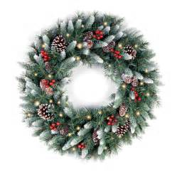 national tree co frosted berry pre lit wreath reviews