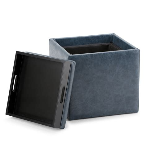 storage ottoman cube with tray cube ottoman with tray avenue six detour storage cube