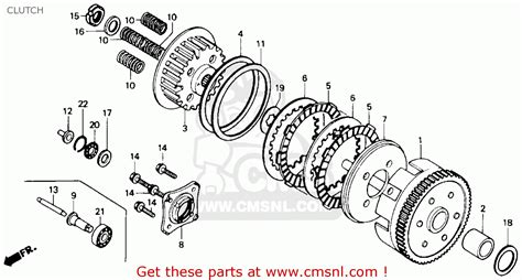 honda rebel 250 parts diagram honda cmx250cd rebelltd 1986 g usa california clutch