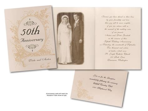 7 best images of printable 50th anniversary invitations