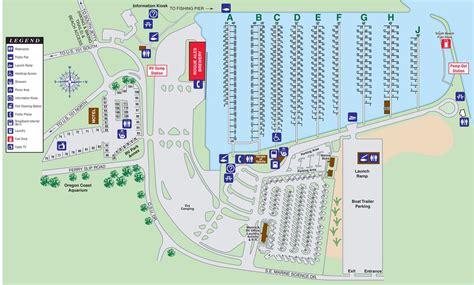 map of oregon rv parks newport oregon rv park