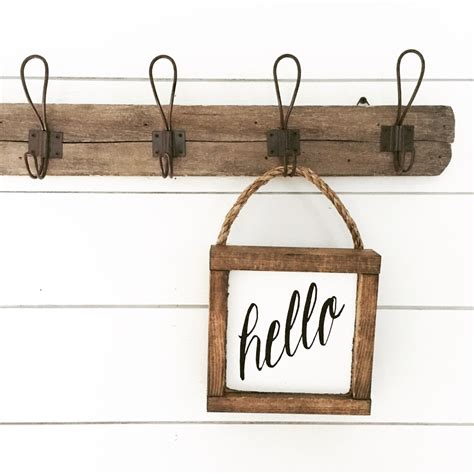 Handmade Signs Etsy - hello sign wooden sign hanging sign by backroadsigncompany