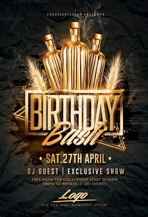 Birthday Bash Flyer Psd Templates Creativeflyers Bash Flyer Template