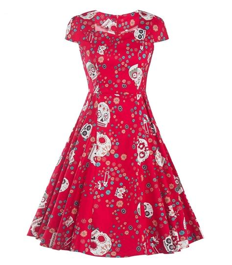 Dress Of The Day Thisbe Dress by Day Of The Dead 50s Dress 1950sglam