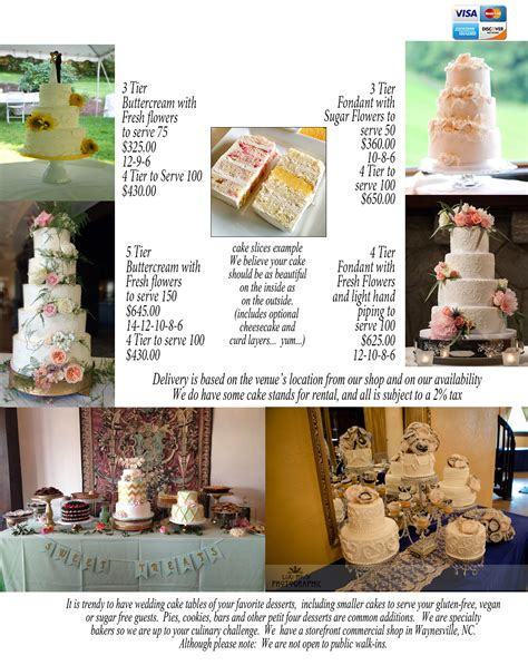 Wedding Cakes Asheville Nc by 2016 Wedding Cake Pricing Ideas Just Simply Delicious