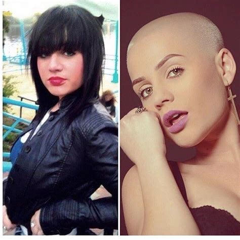 hairy before and shaved photos photo from bald girls women with shaven heads