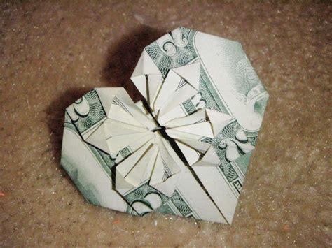 tutorial origami dollar dollar bill origami heart the art of money pinterest