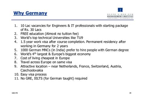 Mba For Engineers Germany by Georg Simon Ohm Mba Program Germany