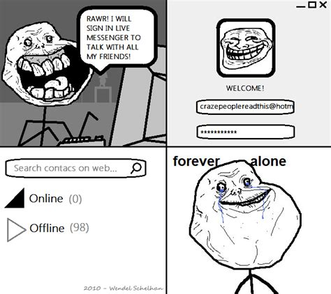 Forever Alone Meme Origin - image 71437 forever alone know your meme