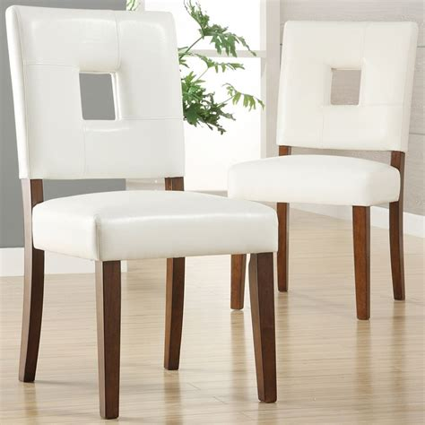 oxford creek dining chairs  white faux leather set   multi home furniture dining
